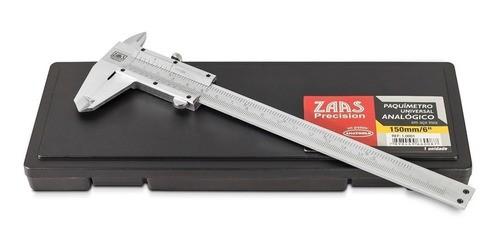 Paquímetro Universal Analógico 150mm Aço Inox Zaas