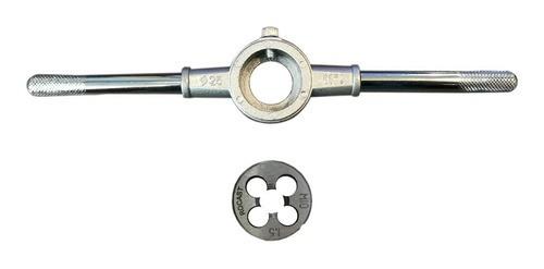 Porta Cossinete 1pol + Cossinete M10x1,5 - 1pol Aço Liga