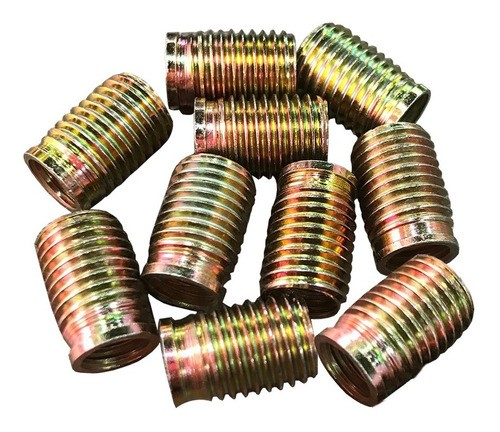 Tucho Bucha Rosca Postiça M6x1,0 / M8x1,25 15mm 10 Peças
