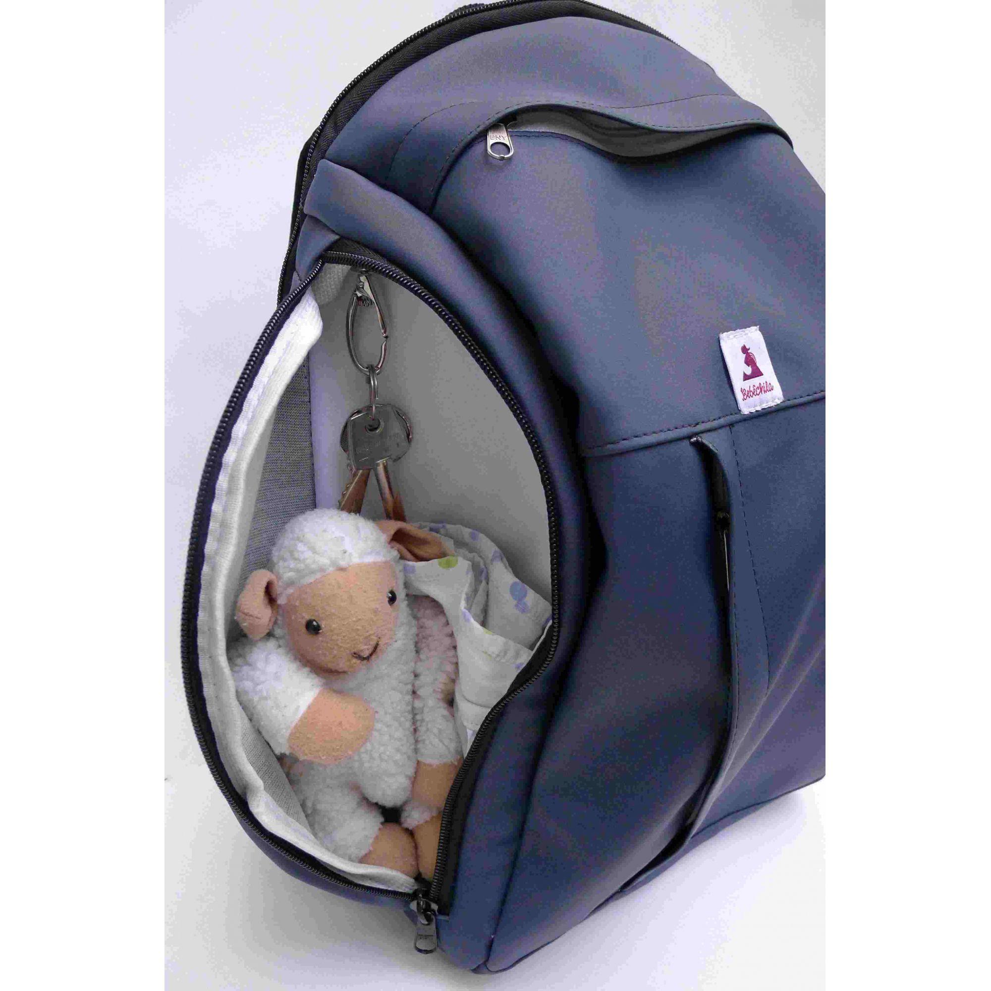Mochila de maternidade - Bebêchila Berry Azul Marinho