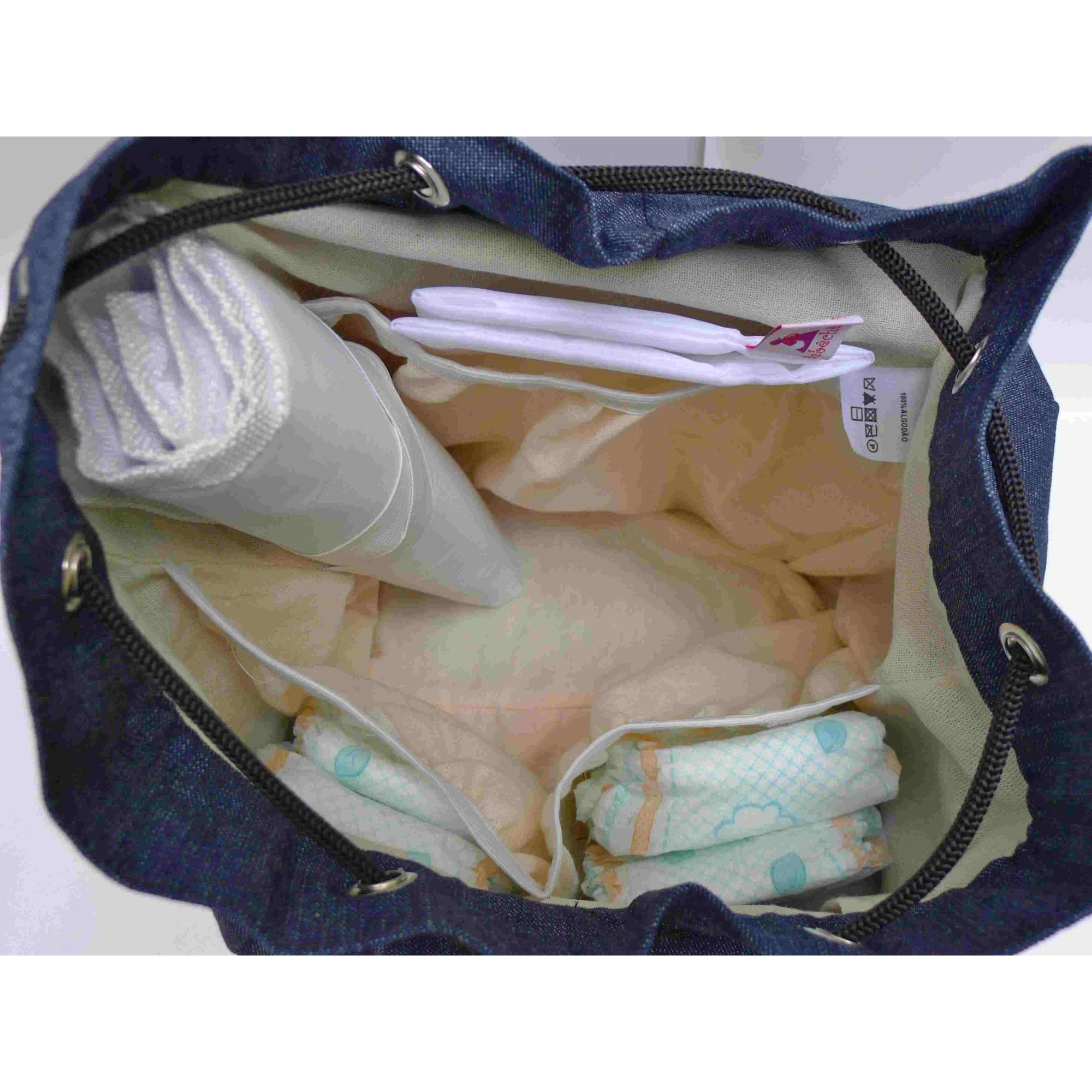 Mochila de maternidade - Bebêchila Roots Jeans