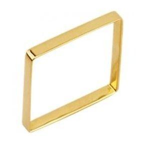 Anel de ouro 18 k Xuxa Quadrado