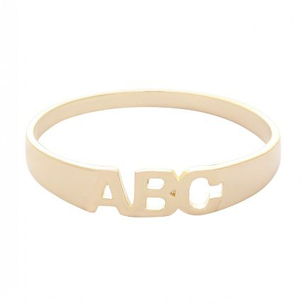 Anel de ouro 18k ABC
