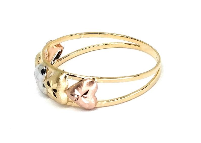 Anel de ouro 18K Aro Corações