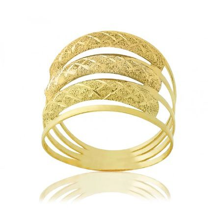 Anel de ouro 18K Aro Triplo