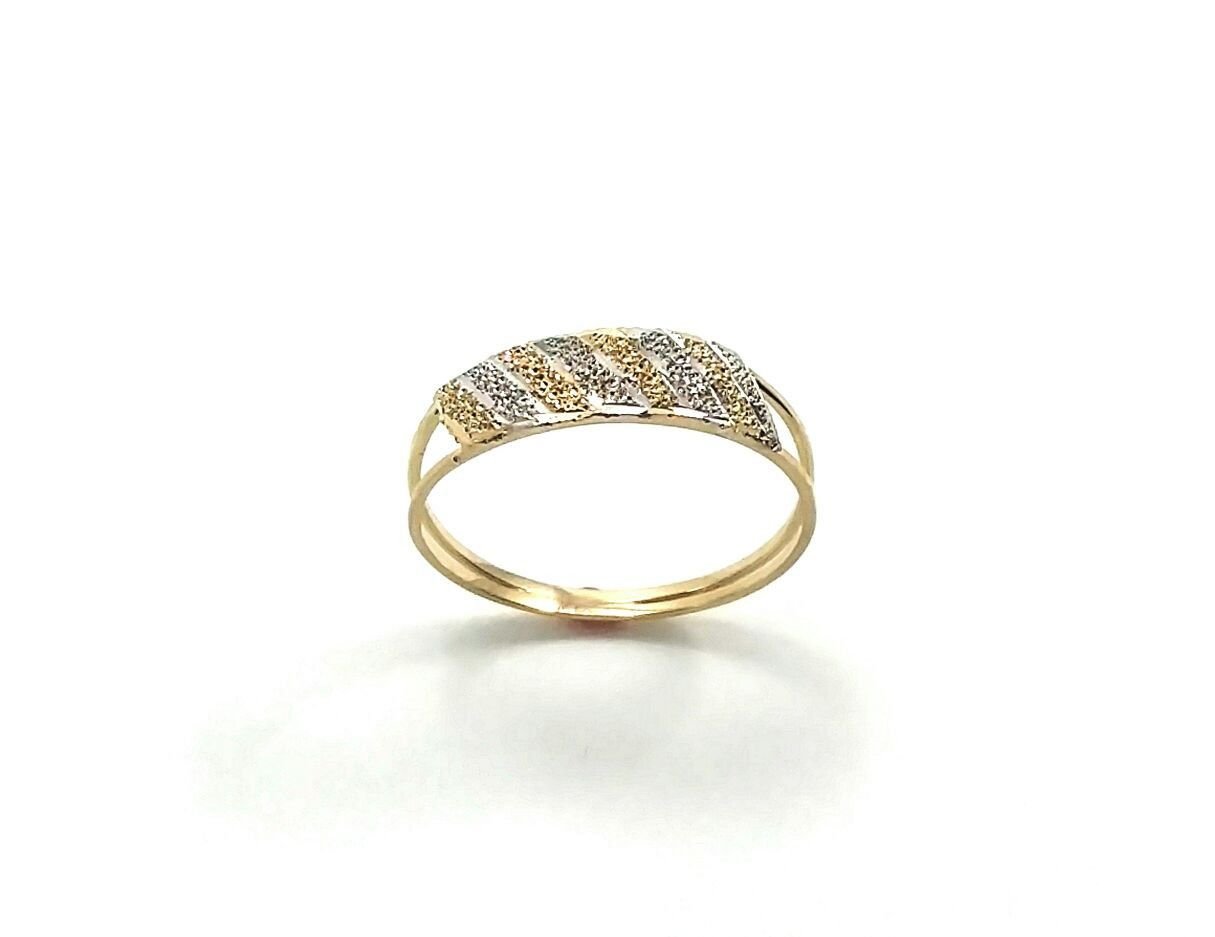 Anel de ouro 18k branco e amarelo