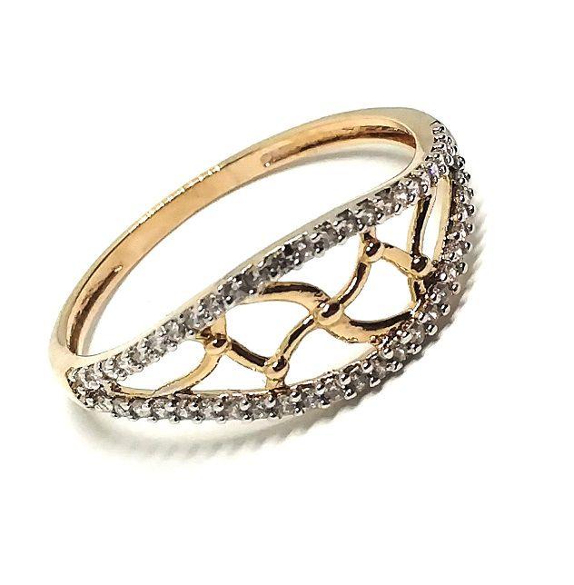 Anel de ouro 18k com pedras