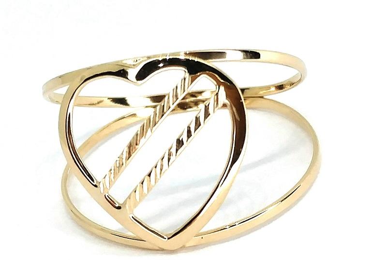 Anel de ouro 18K coração