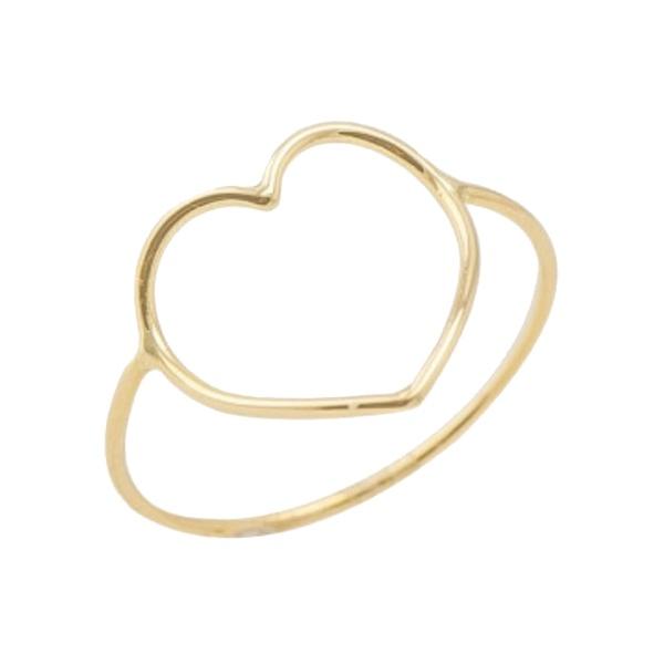 Anel de ouro 18K coração aro 25