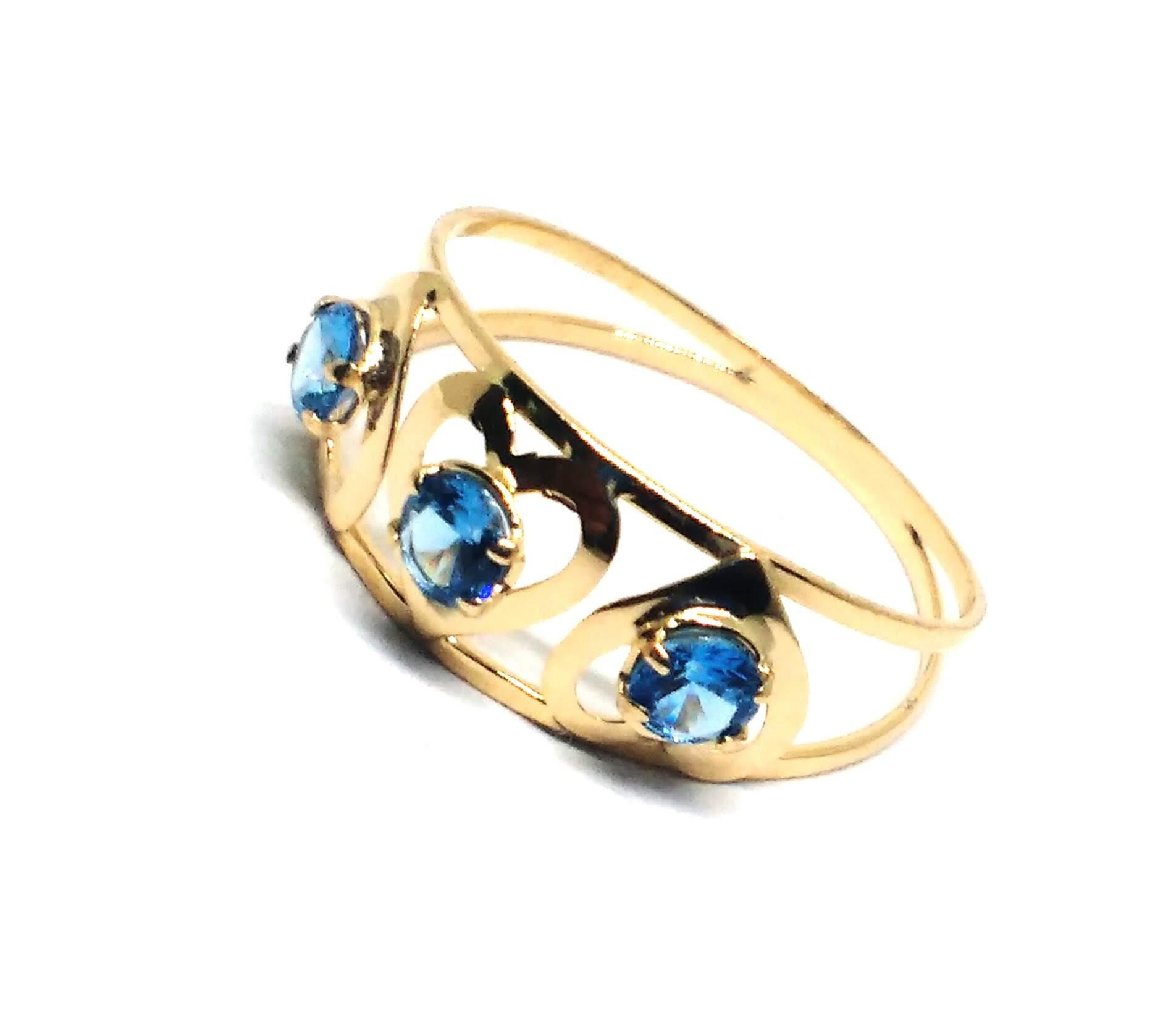 Anel de ouro 18k Coração e Pedras