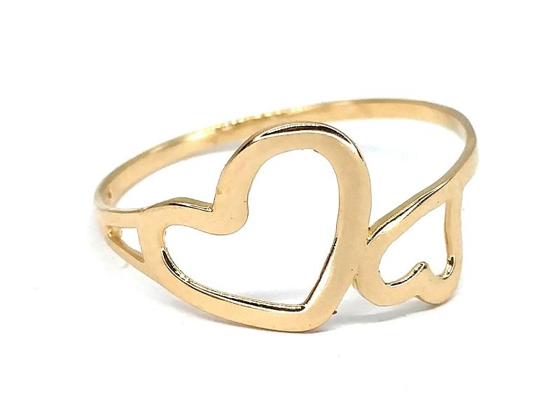 Anel de ouro 18K Corações