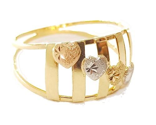 Anel de ouro 18K Corações ARO 22