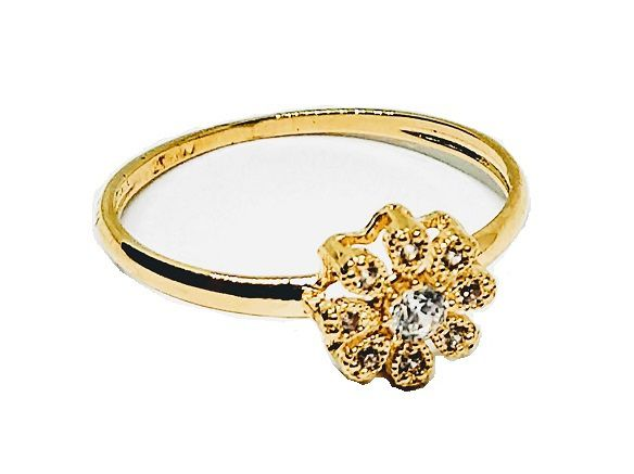 Anel de ouro 18k Flor