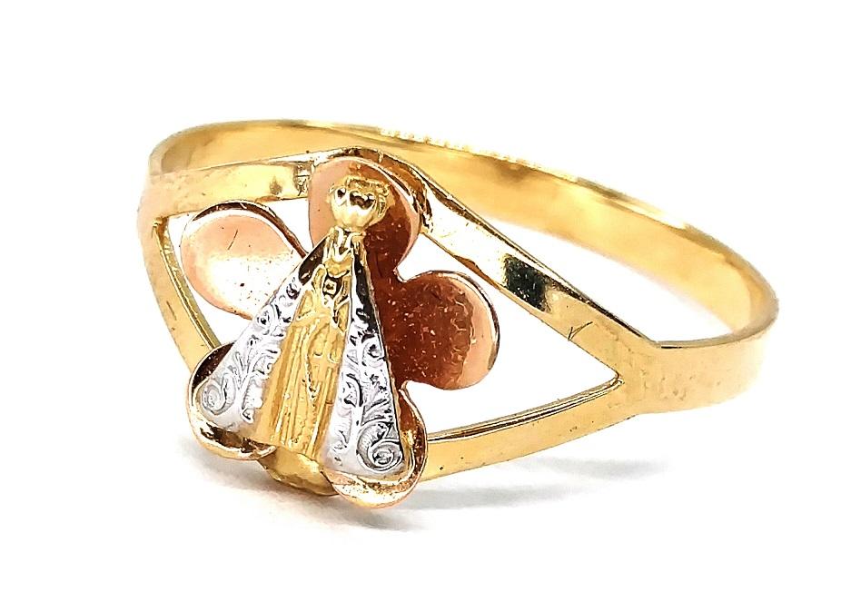 Anel de ouro 18K Flor N. S. Aparecida