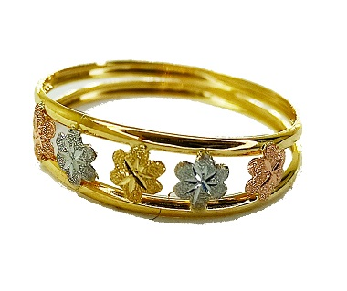 Anel de ouro 18k Flores
