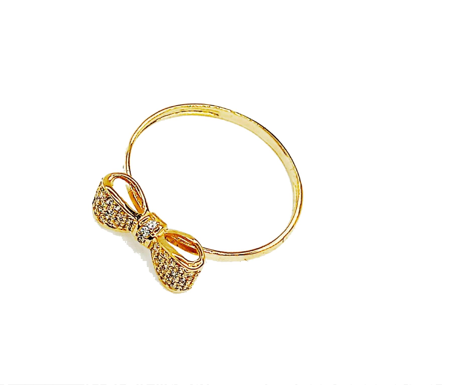 Anel de ouro 18K Laço com Pedras