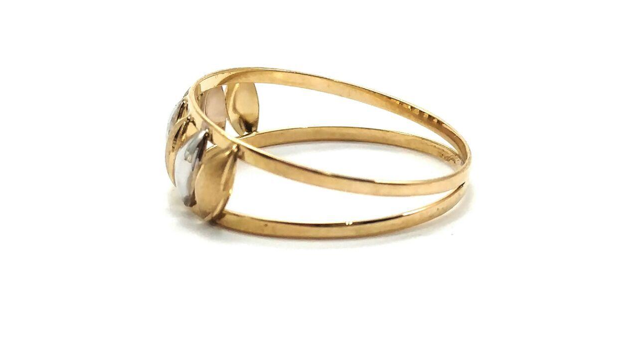 Anel de ouro 18k Navete