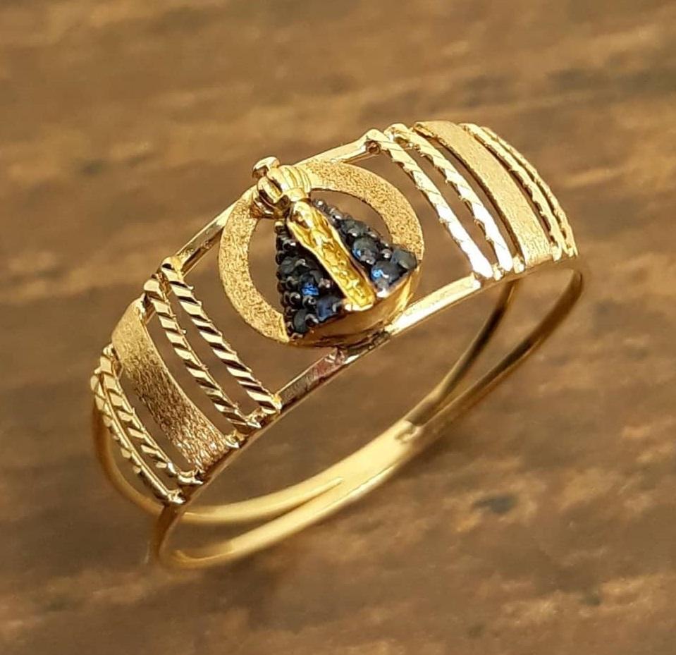 Anel de ouro 18k Nossa Senhora Aparecida