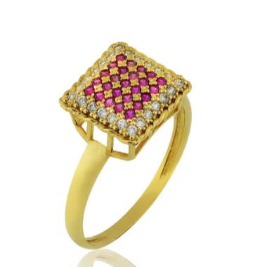 Anel de ouro 18K Pedra