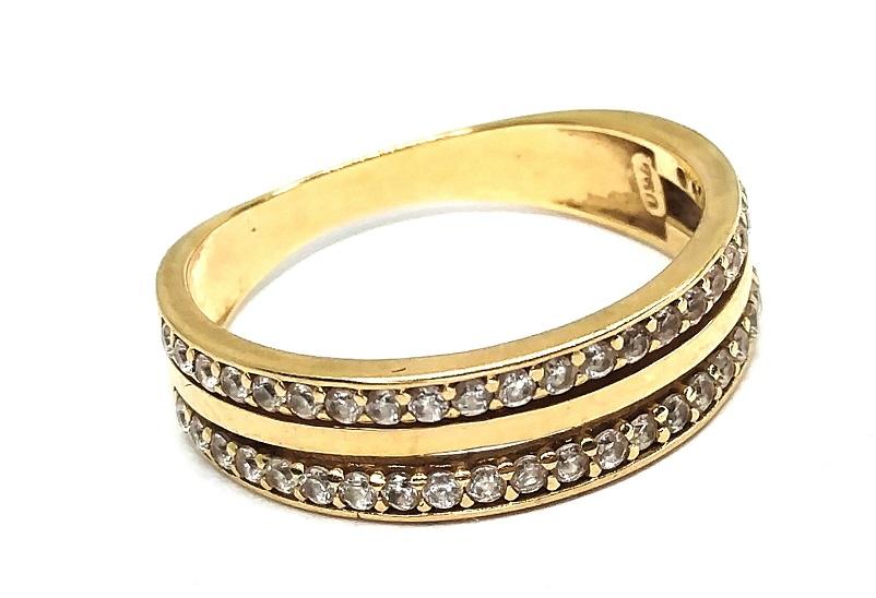 Anel de ouro 18k Pedras Aro 15