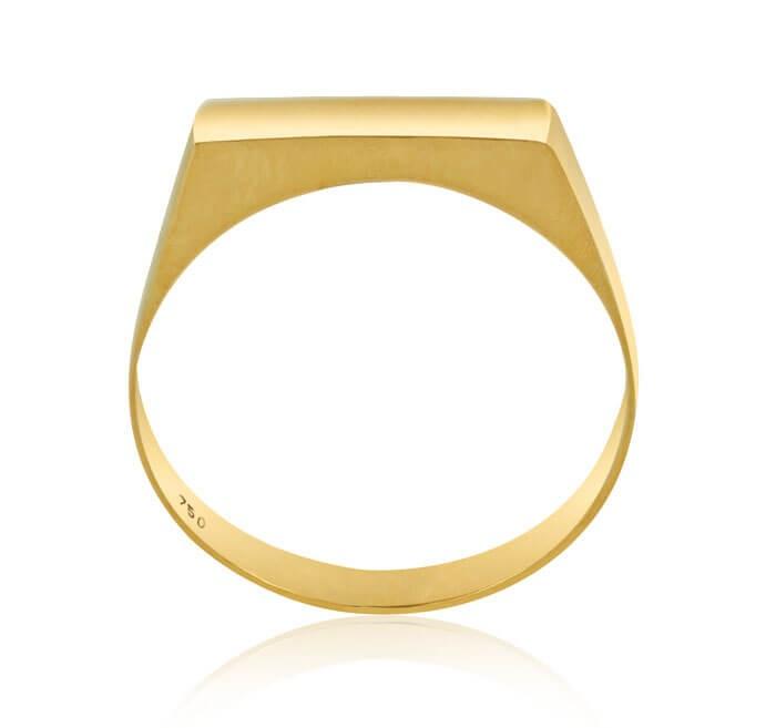 Anel de ouro 18k Plaquinha 3mm
