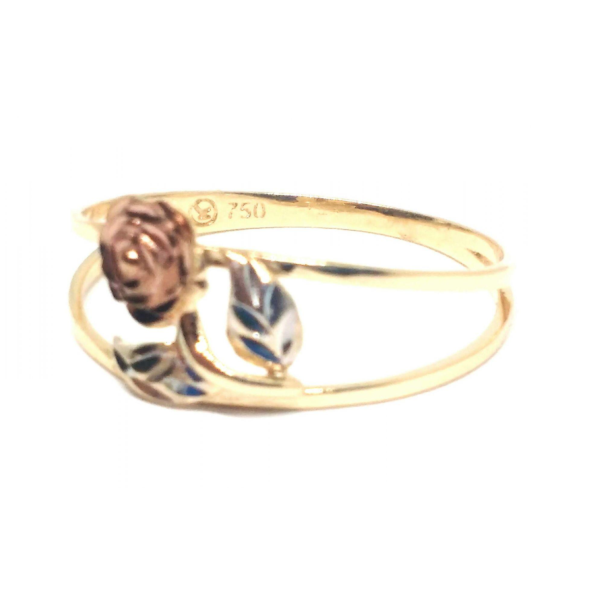 Anel de ouro 18k Rosa