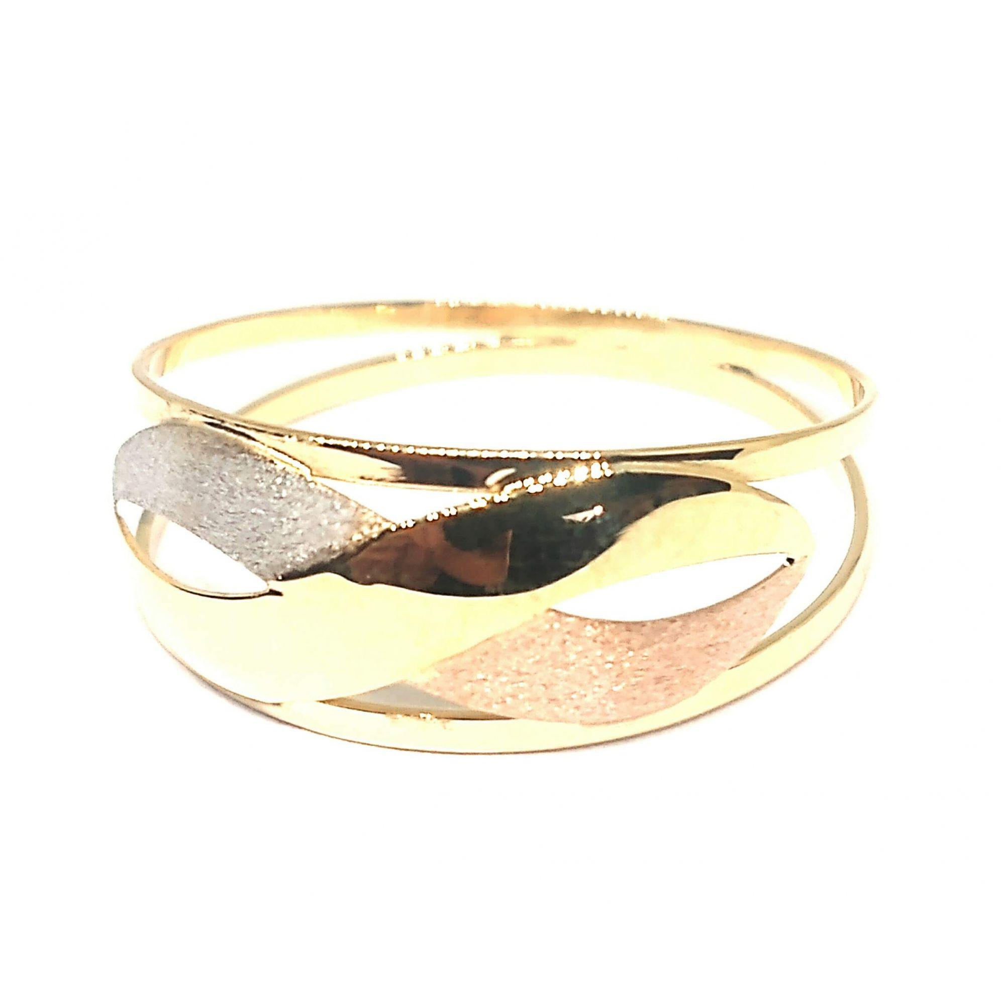 Anel de ouro 18k Tricolor Infinito