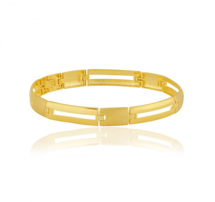 Bracelete de Ouro 18K Ouro Liso