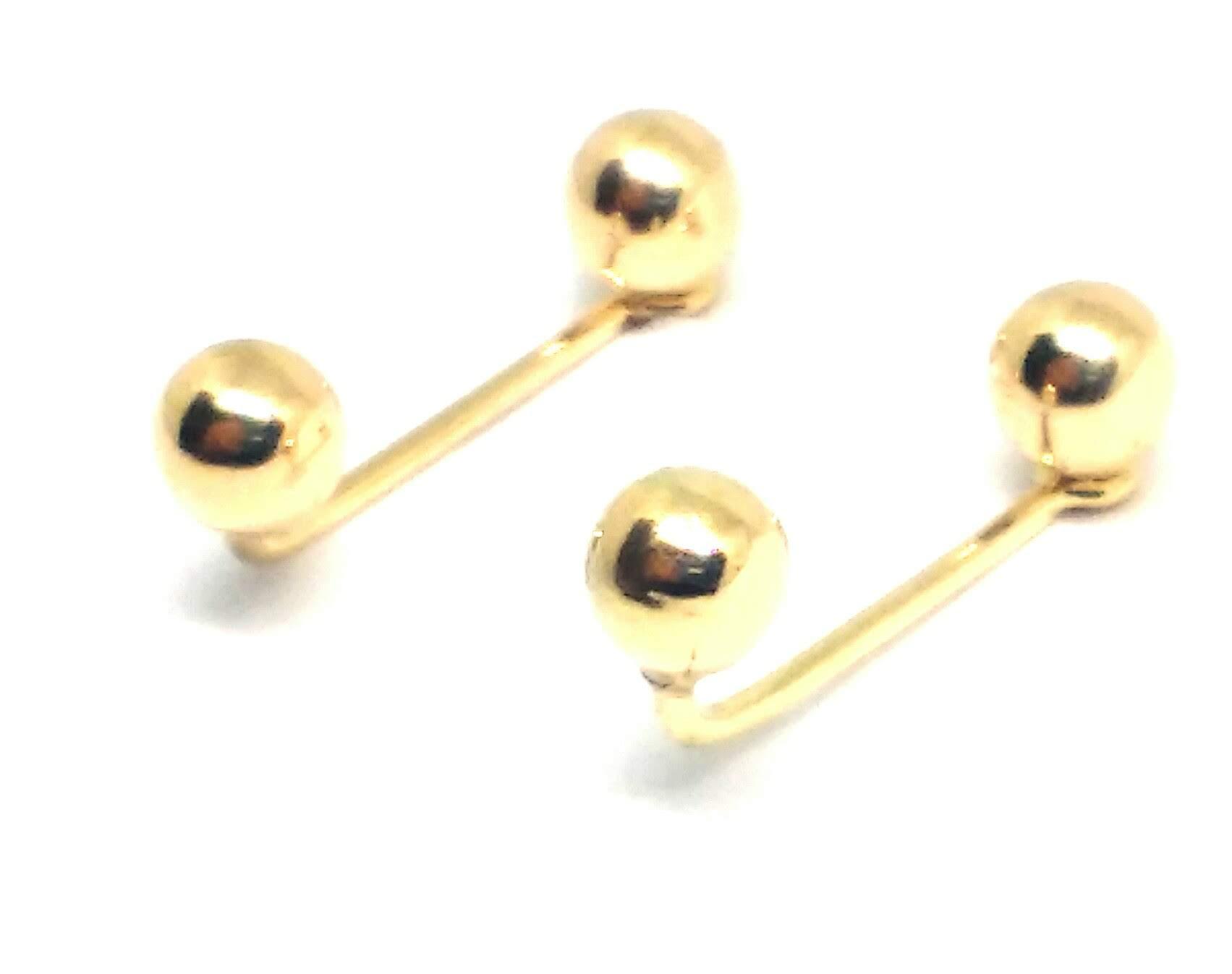 Brinco de ouro 18k  Anzol Bola