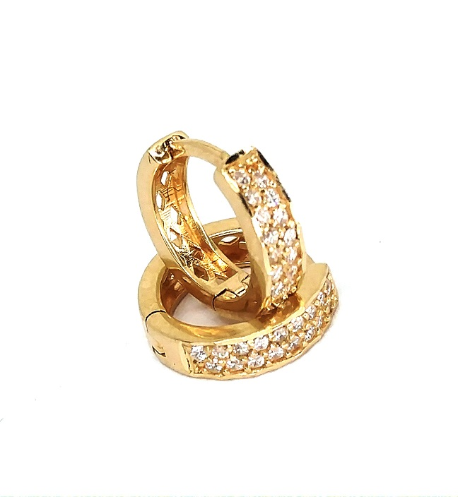 Brinco de ouro 18k  Argola 1Cm
