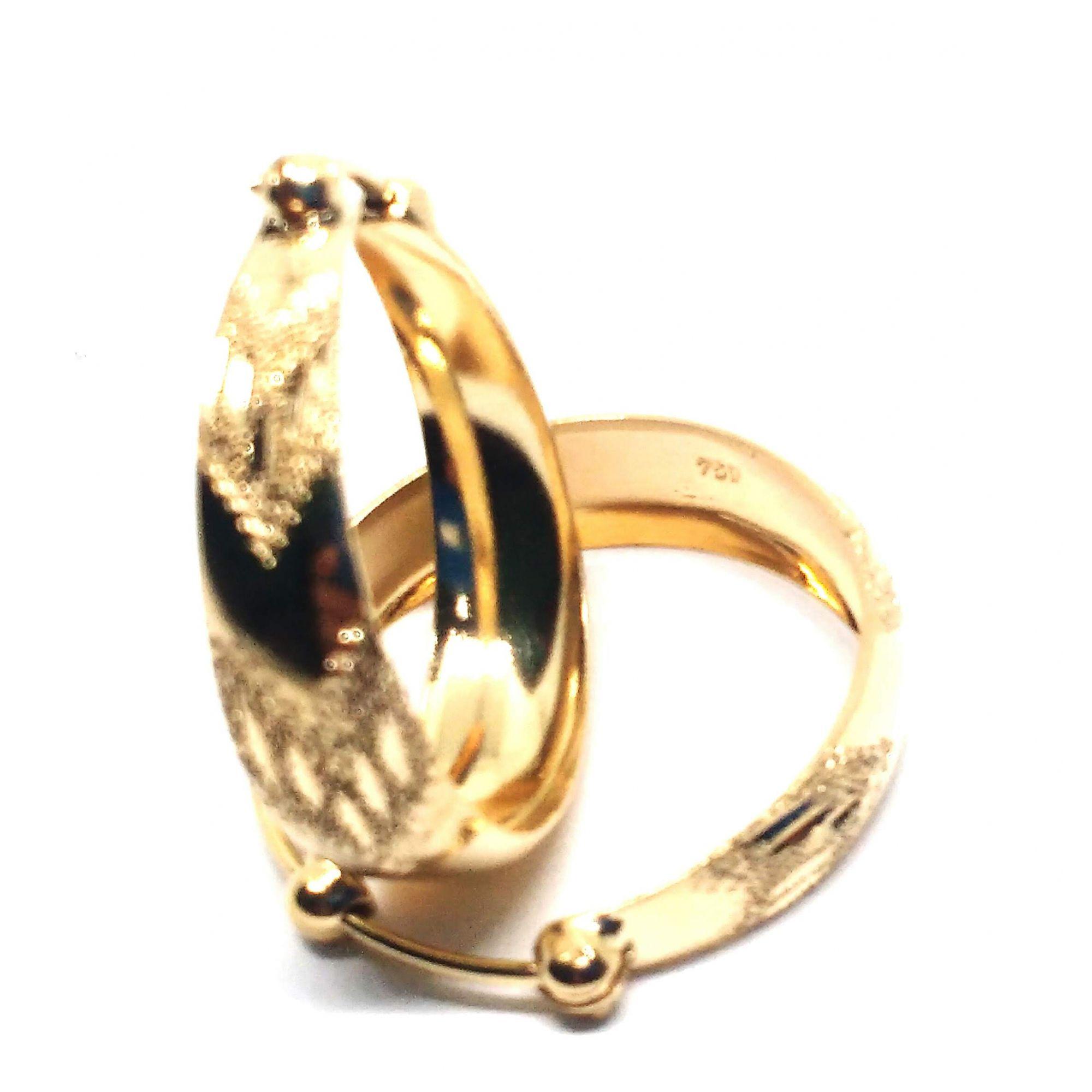 Brinco de ouro 18k  Argola Médio