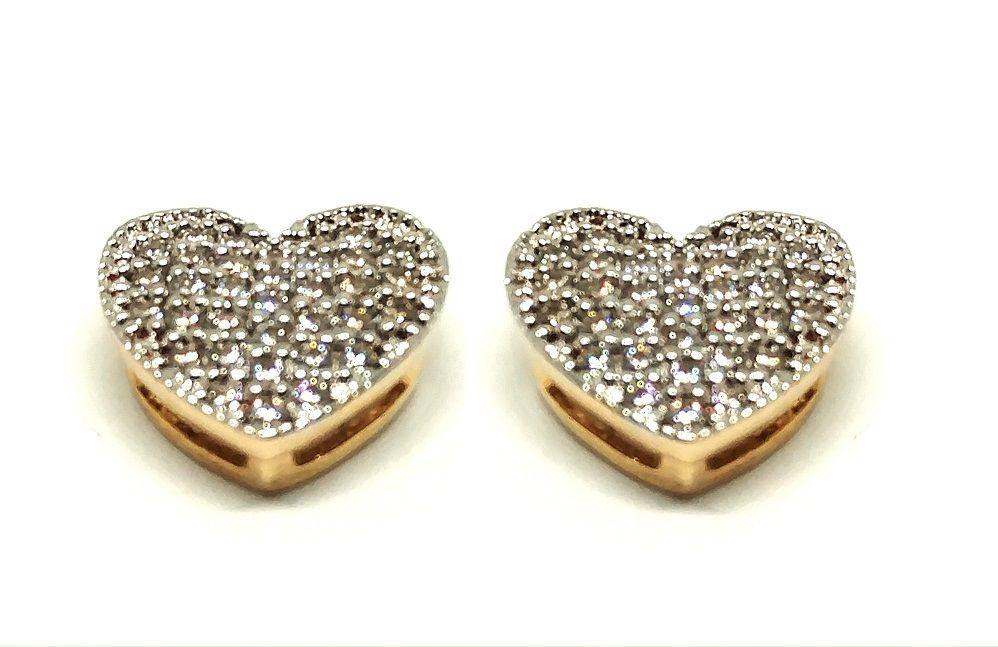 Brinco de ouro 18k Coração