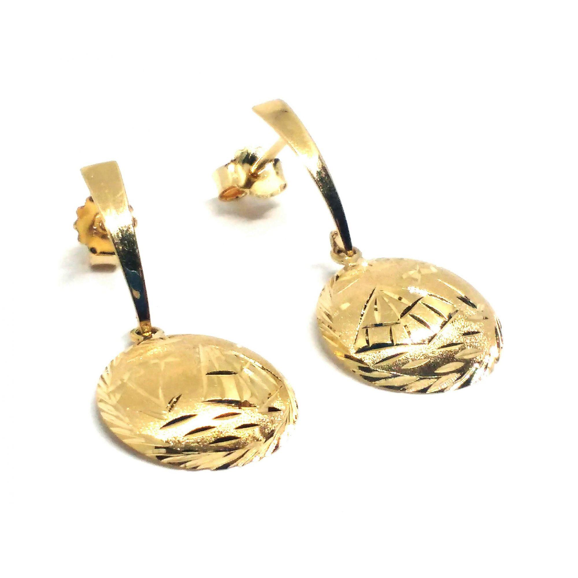 Brinco de ouro 18k  Escrava