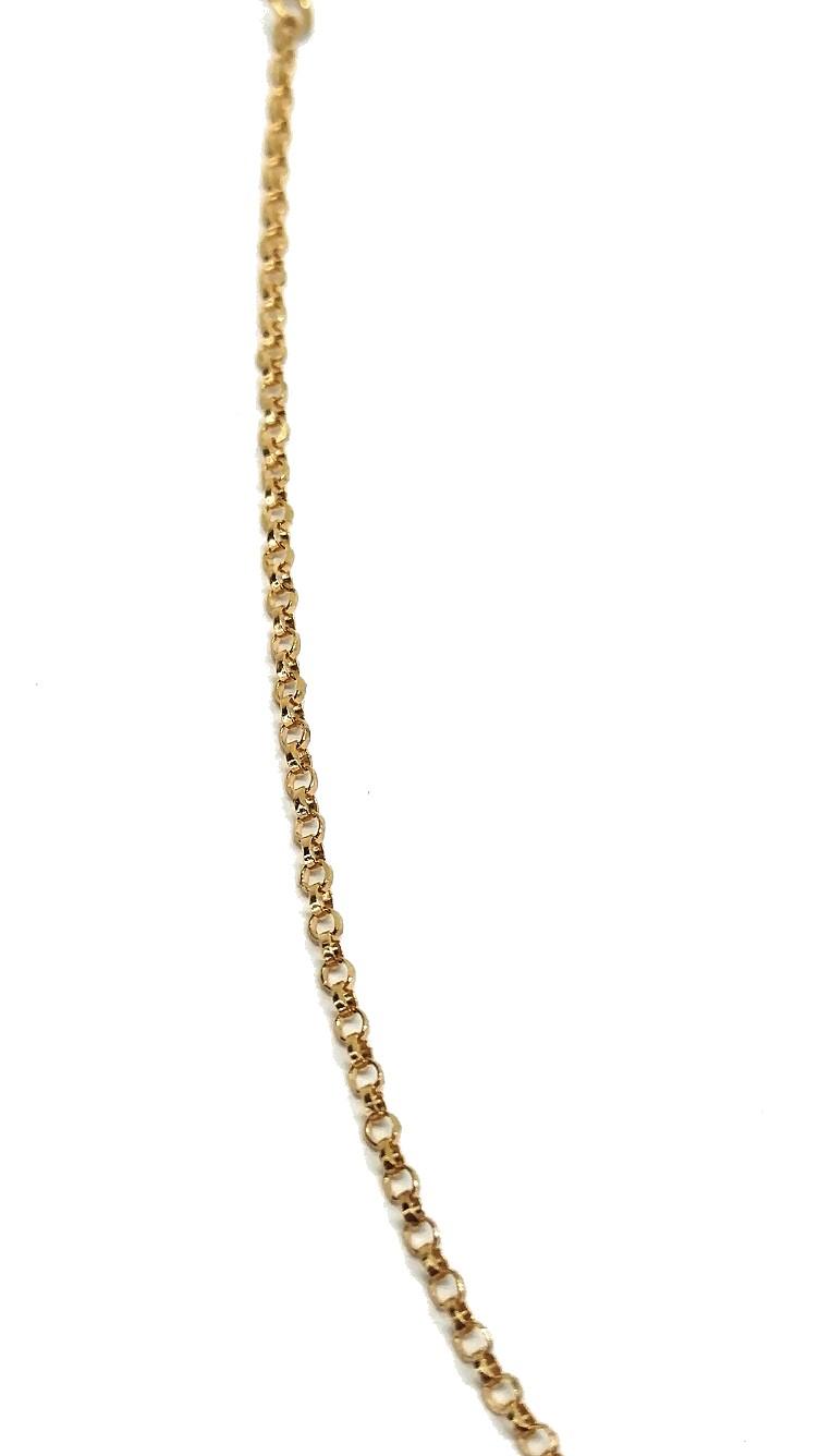 Colar de Ouro 18k Choker 40cm
