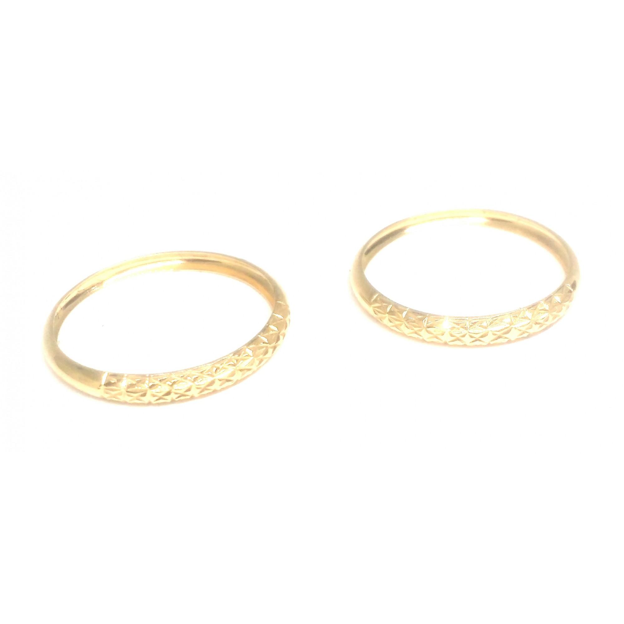 Anel de ouro 18k aparador diamantado