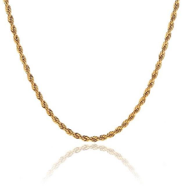 Corrente de ouro 18k cordão baiano 2,30 mm