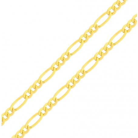 Corrente de Ouro 18K Fígaro 3 em 1 60cm