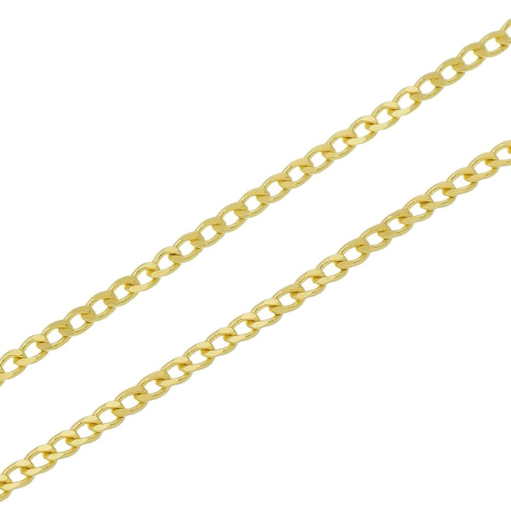 Corrente de Ouro 18K Groumet 50cm