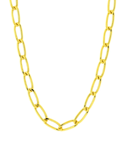 Corrente de Ouro 18K Groumet Longa 60cm