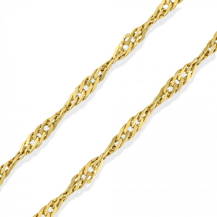 Corrente de ouro 18k Singapura 50cm