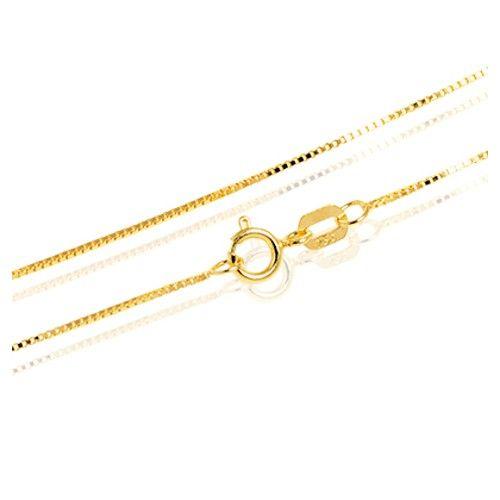 Corrente de ouro 18k Veneziana com pingente gota