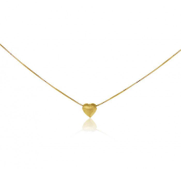 Gargantilha em ouro 18K Coração pequeno