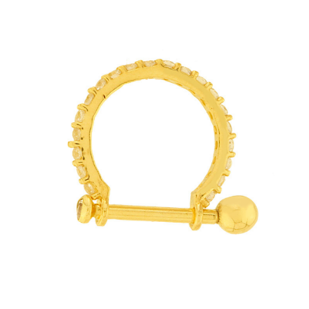 Piercing Cartilagem Conch Ouro 18k 14mm