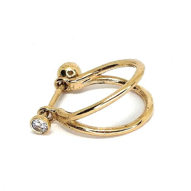 Piercing Cartilagem Conch Ouro 18k 1,2mm