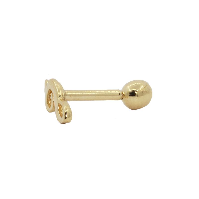Piercing Cartilagem em Ouro 18k Clave de Sol