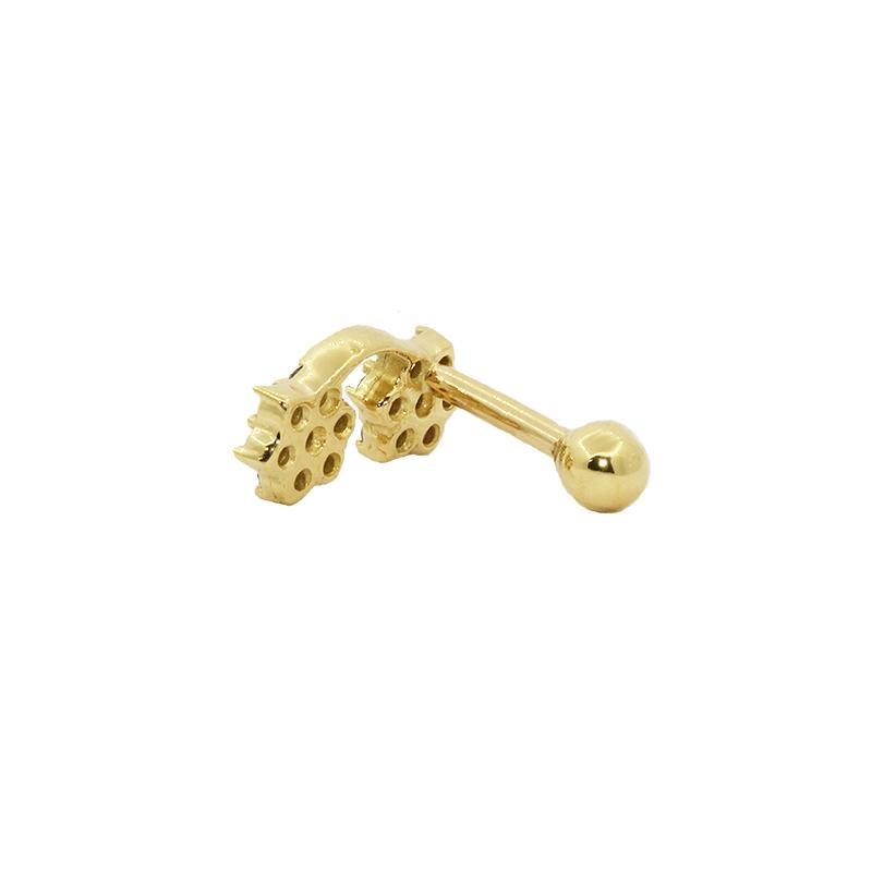 Piercing  Cartilagem Ouro 18k com pedras