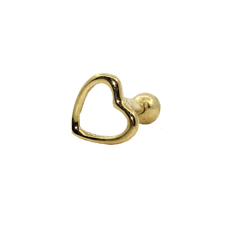 Piercing  Cartilagem Ouro 18k Coração