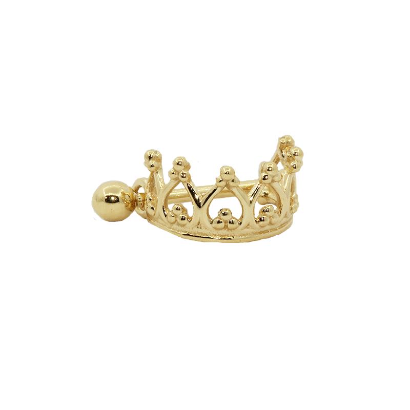 Piercing Cartilagem Ouro 18k Coroa com haste