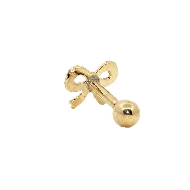Piercing  Cartilagem Ouro 18k Laço