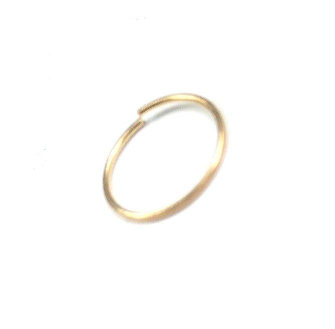 Piercing de ouro 18k argola de nariz